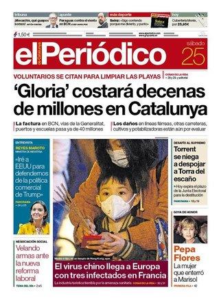 Prensa de hoy: Las portadas de los periódicos del sábado 25 de enero del 2020