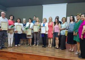 Entrega de premios de la última edición de los Jocs Florals de Esplugues