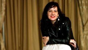La escritora barcelonesa Laia Aguilar en el hotel El Palace de Barcelona, este martes.
