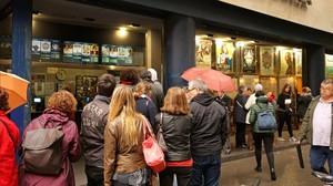 Espectadores durante la Fiesta del Cine, en el Renoir Floridablanca.