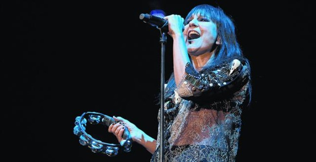 Eva Amaral, durante un concierto.