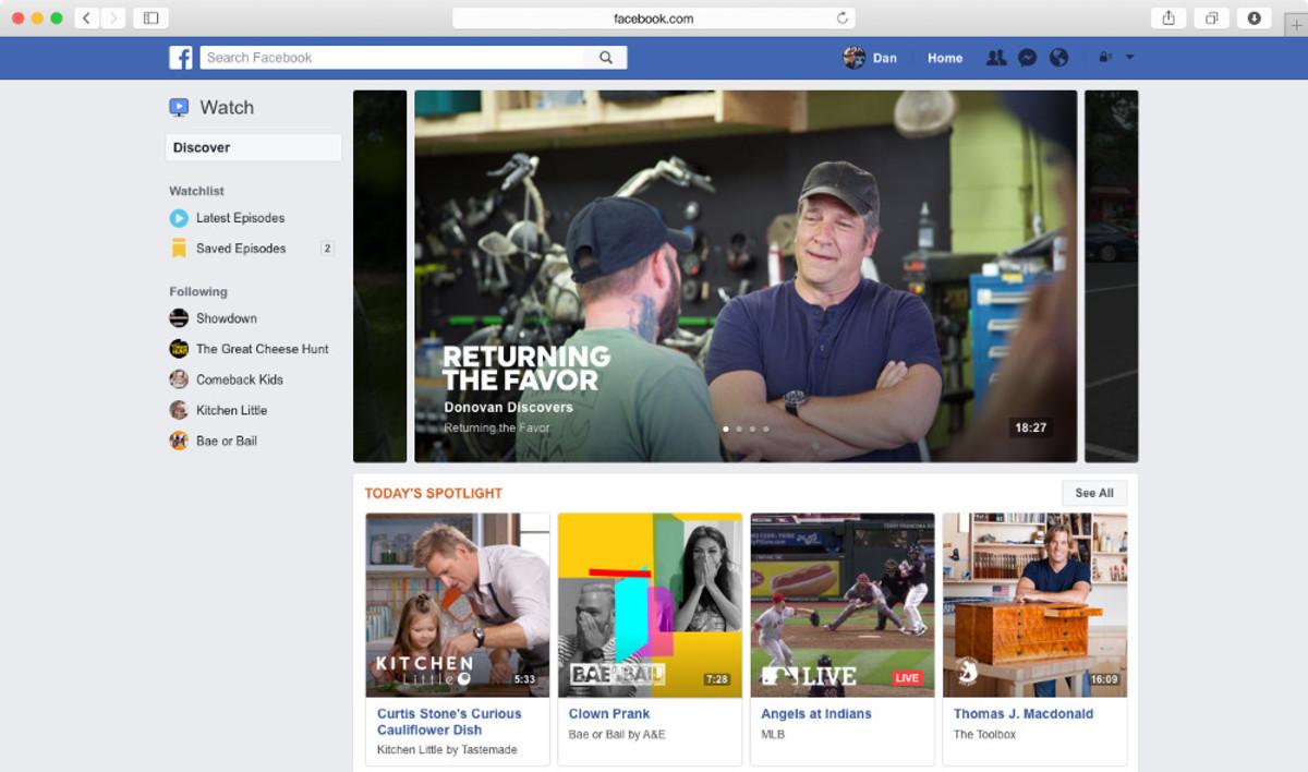 Facebook Watch.