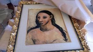 Cabeza de mujer jóven, obra de Picasso.