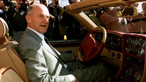 FILE PHOTO: Ferdinand Piech, chief executive of Volkswagen AG, sits in a Bentley model Azure with 8 cylinders and a 385 horsepower (PS) engine before the German carmaker's annual news conference in Wolfsburg March 25. VW last year brought the prestigious British car maker Bentley last year. PEM/FMS/File Photo