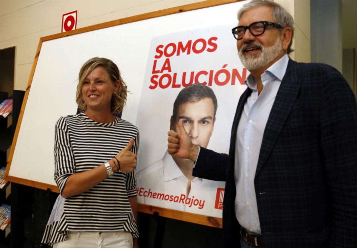 Fèlix Larrosa junto a Montse Mínguez.