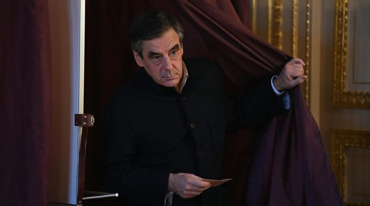 François Fillon, tras votar el pasado domingo en París.
