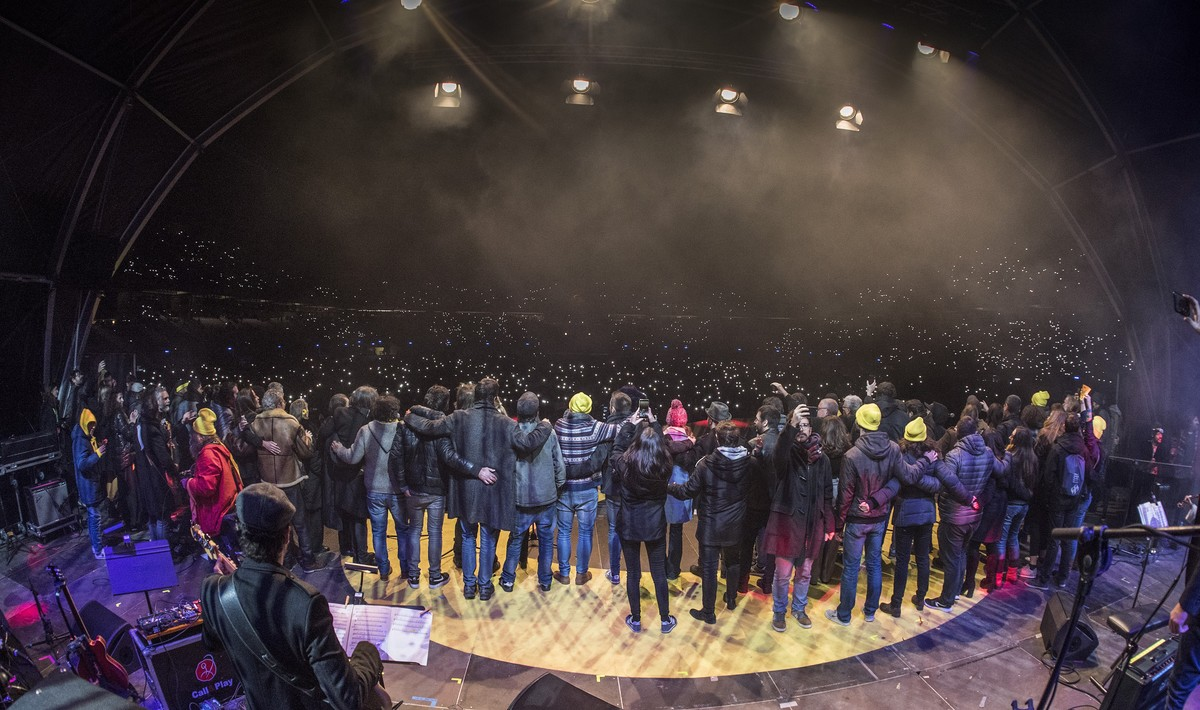 Concert per la Llibertat del Presos Politics al Estadi Olimpic