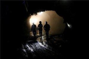 Trabajadores de una mina cerca de Pretoria, Sudáfrica.