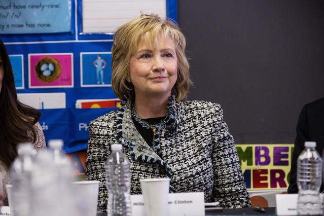 Hillary Clinton, durante un debate sobre educación, el pasado 4 de febrero en Nueva York.