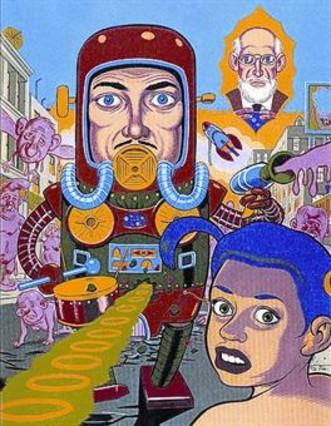 De izquierda a derecha, originales de Daniel Clowes, Yoshihiro Tatsumi, Robert Crumb y Max para portadas de 'El Víbora' y La Cúpula; abajo, número 1 de la revista, con dibujo de Nazario.