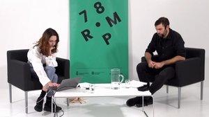 Núria Graham,durante su audición en el programa de conferencias '78 PPM'.