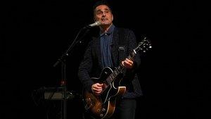 Jorge Drexler, en el Palau de la Música, el jueves.