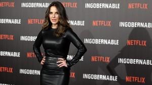 La actriz mexicana Kate del Castillo, en Madrid, donde ha presentado la serie de Netflix Ingobernable