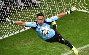 Keylor Navas, durante un partido con la selección de Costa Rica.