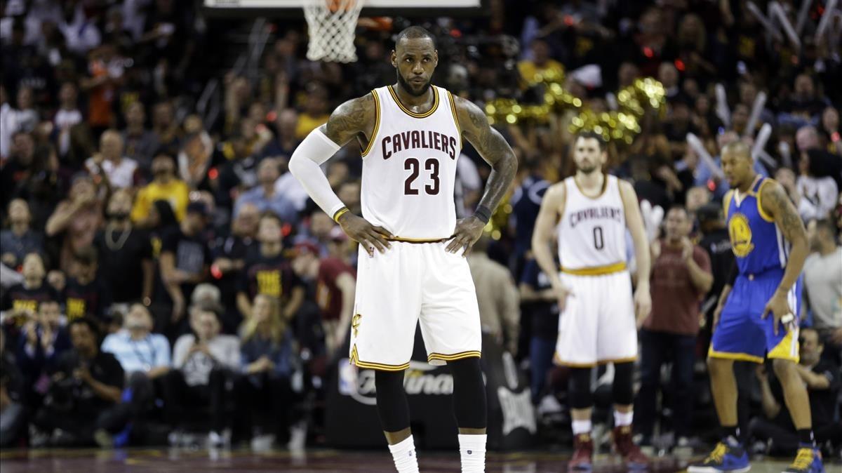 LeBron James, en un partido reciente de la final del Este.