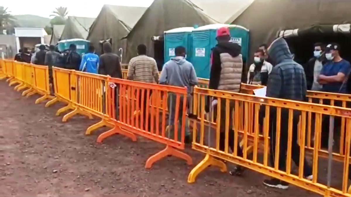 Llegada de los migrantes a Barranco Seco.