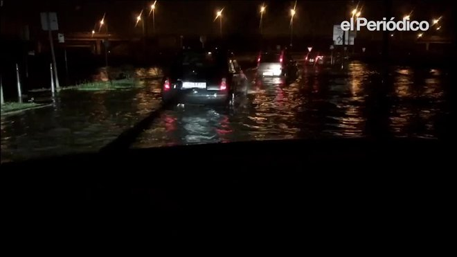 La lluvia en el aeropuerto de El Prat