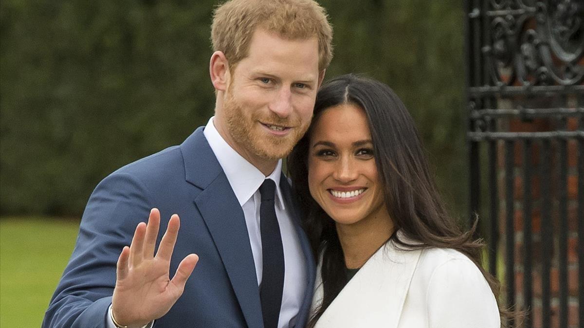 El príncipe Enrique, con su prometida Meghan Markle.