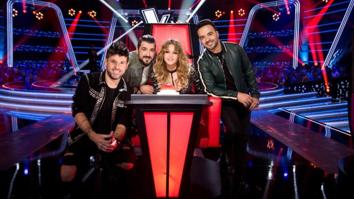 Los coaches de la primera edición de 'La Voz' en Antena 3.