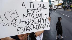 Manifestación contra la corrupción en Panamá.