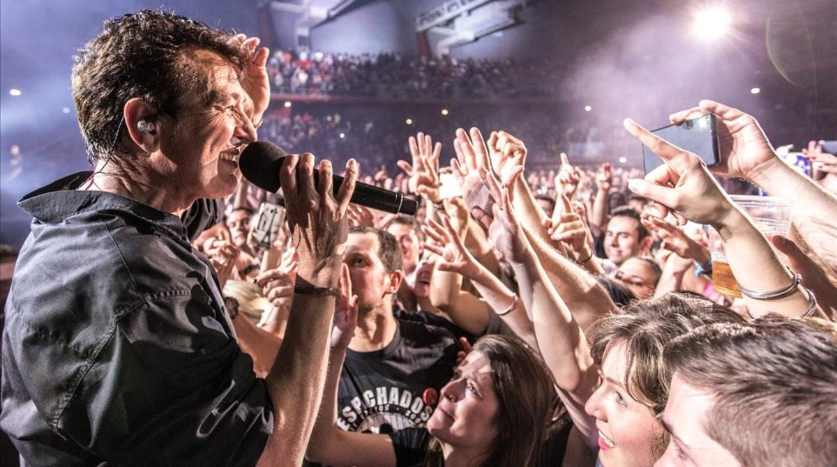 Manolo García, en el concierto de Gijón su gira del 2016.