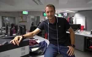 El periodista Manu Carreño, director y presentador del programa deportivo de la SER 'El larguero'.