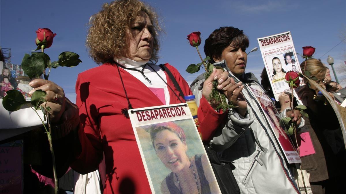 Marcha por las mujeres asesinadas y desaparecidas en Ciudad Juárez, en el estado mexicano de Chihuahua.