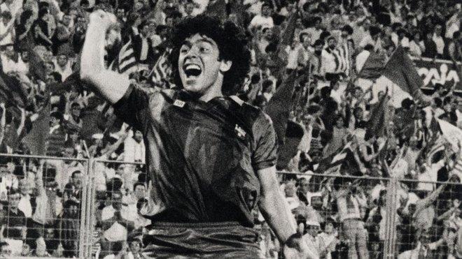 Maradona, en febrero de 1984.