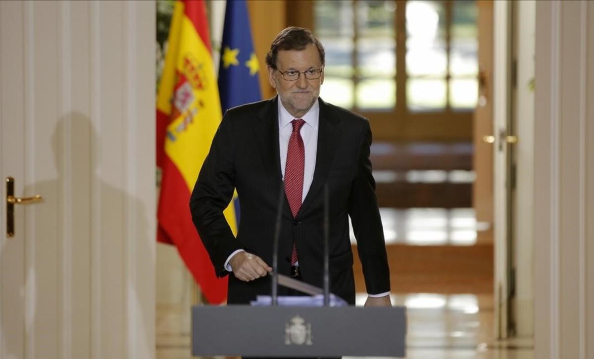 Mariano Rajoy, en la rueda de prensa que ofreció tras el último Consejo de Ministros del 2016.