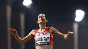 Marta Galimany, en el maratón del Mundial de Doha.