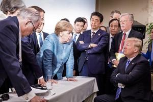 Merkel y Macron tratan de convencer a Trump, en Canadá.