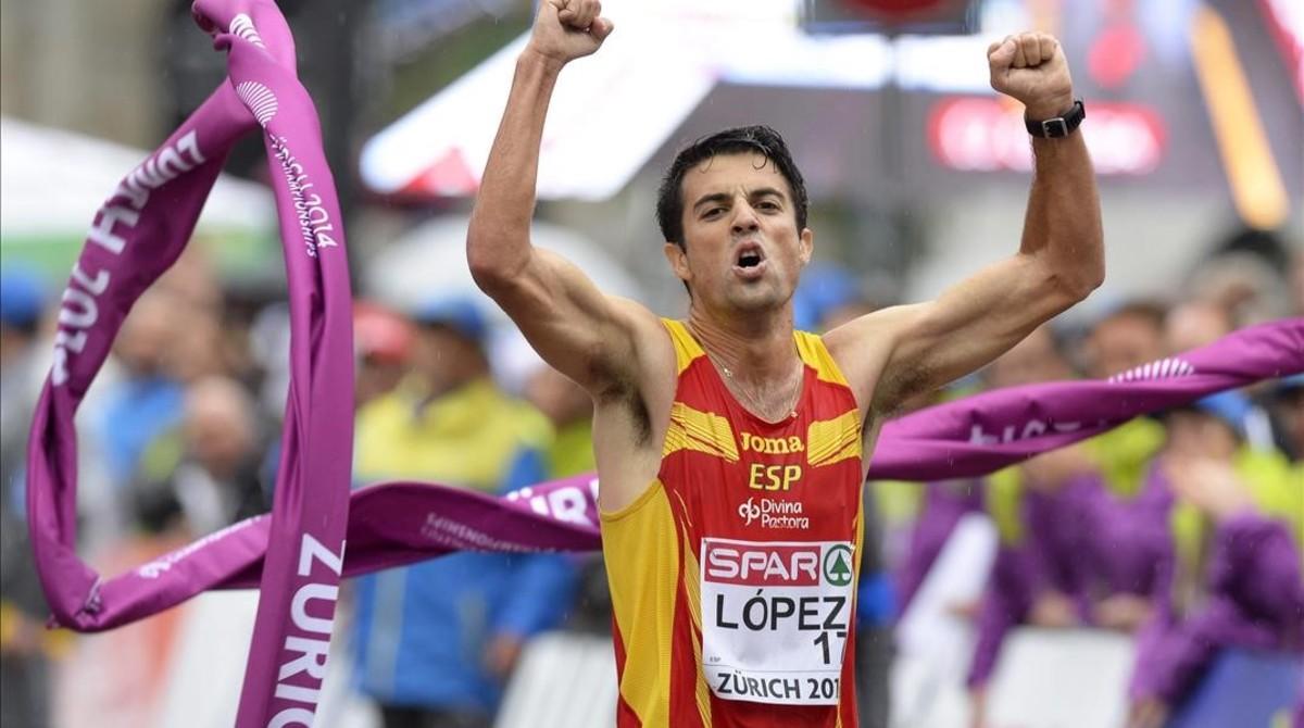 Miguel Ángel López ya es campeón de Europa (foto) y del mundo de 20 kilómetros marcha. En Río busca la triple corona.