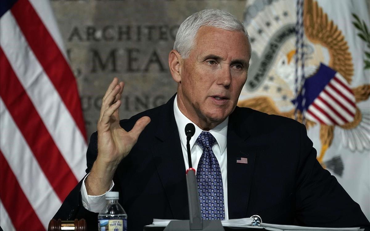 Mike Pence, durante un acto en Washington.