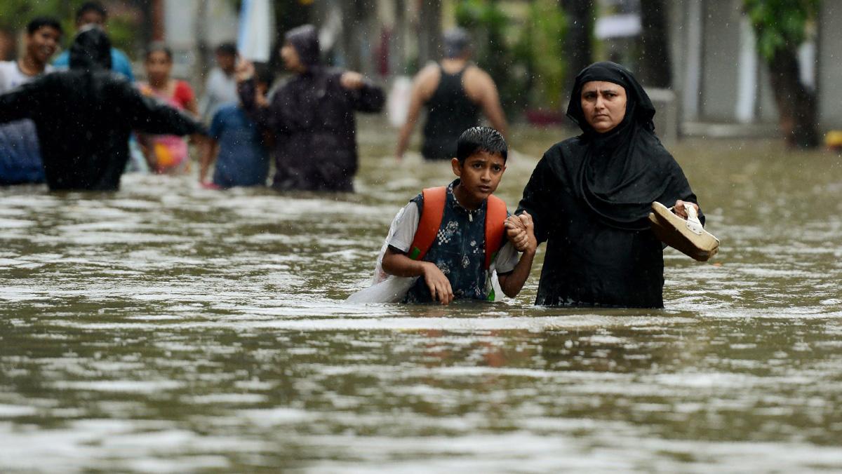 El monzón ha provocado grandes inundaciones en la India, Bangladés y el Nepal.