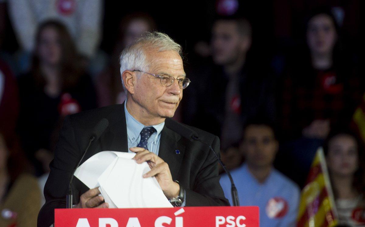 El ministro en funciones de Asuntos Exteriores, Josep Borrell.