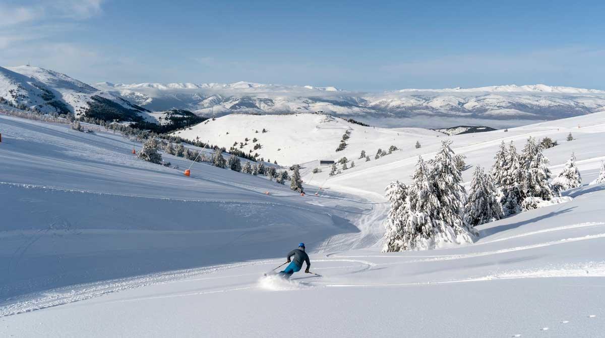 La Molina ha sido una de las estaciones que más nieve ha recibido y presenta un aspecto sensacional.