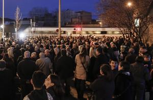 Protesta contra los atropellamientos ferroviarios en Montcada, 168 desde que se estrenó la vía.