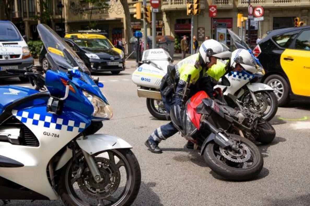 Cazado a 137 km/h un motorista por la Via Augusta de Barcelona