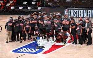 Miami Heatcelebra su campeonato dede la Conferencia Este de la NBA.