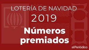 Números premiats de la Loteria de Nadal 2019: Resultats en directe