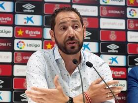 GRAF8430. GIRONA, 29/05/2018.- El técnico Pablo Machín, recientemente fichado por el Sevilla CF, durante la rueda de prensa ofrecida este mediodía en Montilivi para despedirse como entrenador del FC Girona . EFE/Robin Townsend