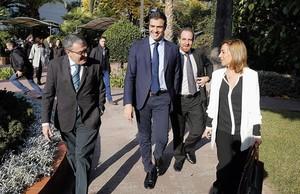 Pedro Sánchez, a su llegada al foro Primera Plan@ de EL PERIÓDICO.