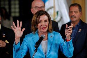 La presidenta de la Cámara de Representantes de los Estados Unidos,Nancy Pelosi.