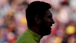 El perfil de Messi, antes del encuentro ante el Getafe.