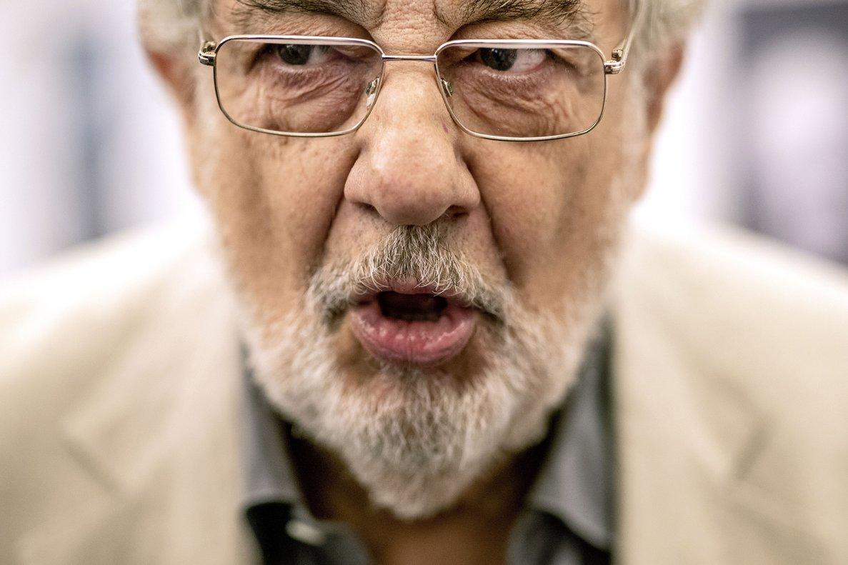Plácido Domingo, durante una conferencia en Madrid, el pasado julio.