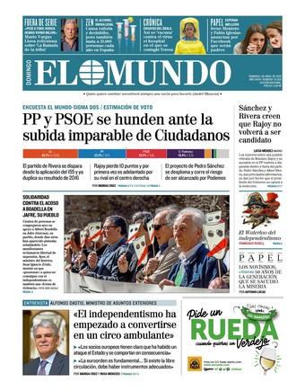 PP y PSOE se hunden ante Cs (El Mundo) y se considera el relevo de Rajoy (El País)