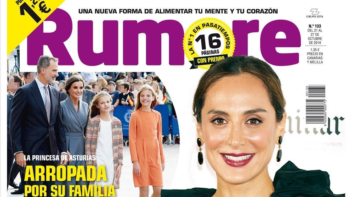 Portada de 'Rumore' protagonizada por Tamara Falcó.