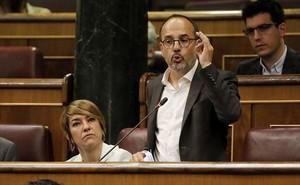 Portavoz 8Carles Campuzano, del PDECat, en el Congreso.