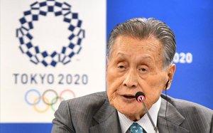 El presidente del comité organizador de Tokio, Yoshiro Mori, en una imagen del pasado febrero
