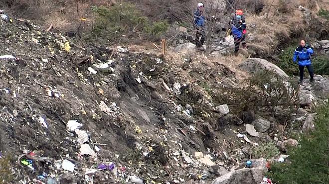 Primeres imatges de la zona zero on ha caigut lAirbus.